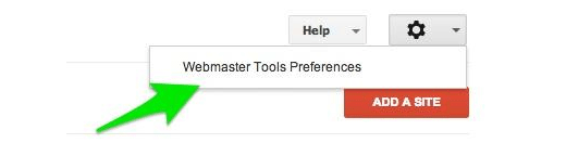 Google Webmaster Tools Preferences