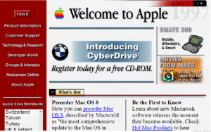 Old Website Apple
