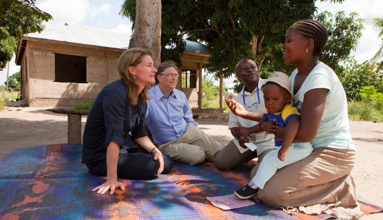 Bill and Melinda Gates in Mapinga, Tanzania 2011